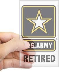 Amazon Com Cafepress U S Army Retired Rectangle Bumper Sticker Car Decal Home Kitchen