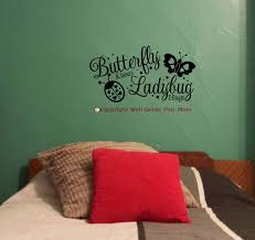 Butterfly Kisses And Ladybug Hugs Girls Vinyl Wall Decals Stickers For Room Decor