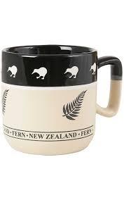 Stoneware New Zealand Fern Coffee Mug Silverfernz Com