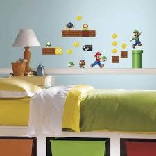 Roommates 5 In X 11 5 In Nintendo Super Mario Build A Scene Peel And Stick Wall Decal Rmk2351scs The Home Depot