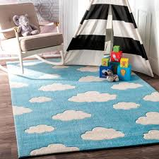 Nuloom Clouds Playmat Blue 5 Ft X 8 Ft Area Rug Bhev28a 508 The Home Depot