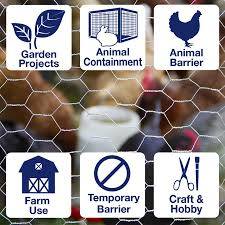 Garden Zone 25 Ft X 4 Ft Steel Steel Chicken Wire Garden Poultry Netting Rolled Fencing In The Rolled Fencing Department At Lowes Com