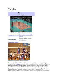Voleybol Voleibol Reglas Y Regulaciones Deportivas