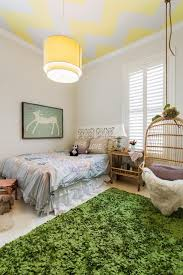 Playful Kids Bedroom Chevron Ceiling Birdcage Chair Hanging Chairs Bedrooms Rooms Saltandblues