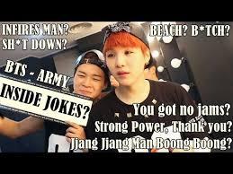 bts army inside jokes only bts stans understand xd