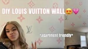 Diy Louis Vuitton Wall No Paint Apartment Friendly Youtube