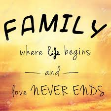 beautiful and inspiring message or quote about family life and