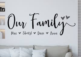 Our Family Decal Family Wall Decal Custom Family Decor This Is Us Family Wall Decor Photo Gallery Decal