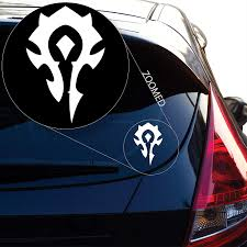 World Of Warcraft Decal Sticker For Car Window Laptop And More Car Stickers Aliexpress
