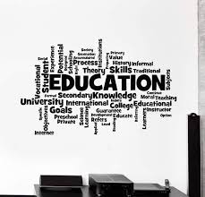 Vinyl Wall Decal Education School University Words Cloud Student Stick Wallstickers4you
