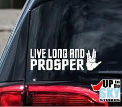 Huis Live Long And Prosper Vinyl Decal Car Window Bumper Sticker Star Trek Spock Appcoug Org