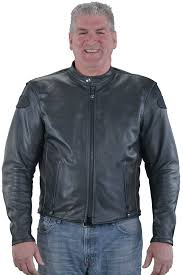 leather cruiser jacket with ce approved