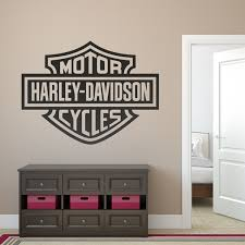 Wall Decal Logo Harley Davidson Bigger Muraldecal Com