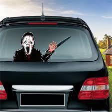 Sunsky Screaming Killer Pattern Horror Series Car Rear Windshield Window Wiper Self Adhesive Decorative Sticker