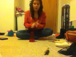 Adriana Hall doing the cup song - YouTube