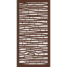 Modinex 4 Ft X 2 Ft Espresso Brown Modinex Decorative Composite Fence Panel In Bamboo Design Usamod2e The Home Depot