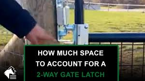 2 Way Gate Latch Installation Tip Youtube