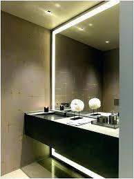strip lighting above bathroom mirror