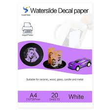 Big Offer 93efb 20pcs Lot A4 Size Inkjet Water Slide Decal Paper White Background Printing Paper Inkjet Waterslide Decal Paper Free Cicig Co