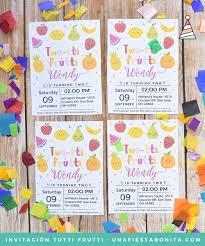 Two Tti Frutti Birthday Invitation Invitacion Para Imprimir