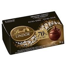 lindt lindor 3 pack 70 cacao 36g