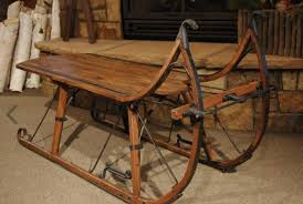 vintage sleigh coffee table rustic chic