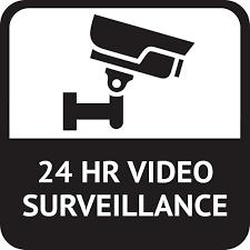 5in X 5in 24 Hr Video Surveillance Sticker Vinyl Signs Door Sign Stickers Stickertalk