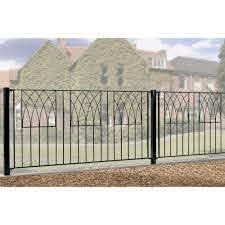 Abbey Modern Metal Fence Fencing Panel 812mm High Burbage Iron Craft