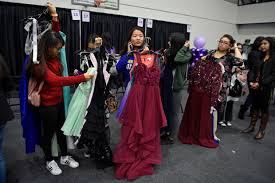 """Photos and video from """"Dressed by West"""" prom dress giveaway at Golden State  Warriors facility in Oakland"""