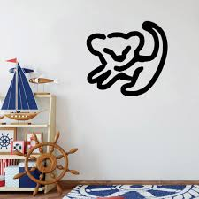 Lion King Simba Wall Decal Drawing Vinyl Wall Sticker Home Decoration Decor For Nursery Kids Boys Girls Bedroom Wallpaper C219 Wall Stickers Aliexpress