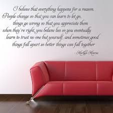 Marilyn Monroe Quote Stickers High Heels Wall Decals Independence