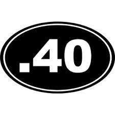 Decals Stickers And Vinyl 40 Bullet Gun Firearm Ammo 40 Cal Euro Oval Car Decal Window Sticker Laptop 6