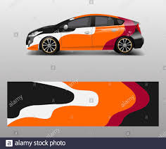 Company Branding Car Decal Wrap Design Vector Graphic Abstract Shapes Designs Company Car Stock Vector Image Art Alamy