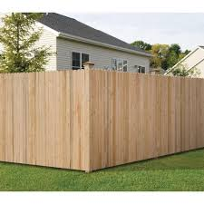 6 Ft H X 8 Ft W Pine Dog Ear Fence Panel 7643 The Home Depot Wood Privacy Fence Wood Fence Building A Fence