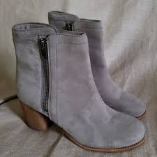 Frye Shoes | Addie Gray Suede Double Zip Ankle Booties | Poshmark