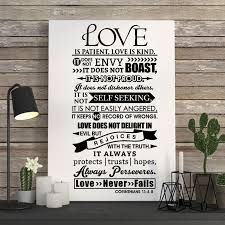 Sticker Citation Love Is Patient Love Is Kind Vinyl Wall Art Decal Bedroom Home Decor Poster House Decoration 35 Cm X 69 Cm Wall Stickers Aliexpress