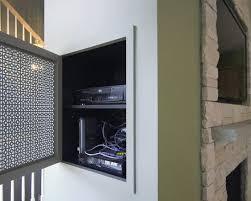 tv over fireplace design