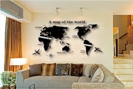 Wall Art Decal World Map Sticker Globe Earth Decor For Kid S Room Home Diy Mirror 3d Acrylic Self Adhesive Removable Decorative Keyboard Stickers Sticker Home Decorstickers Insects Aliexpress