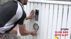How To Install A Fence Mount Letterbox Youtube