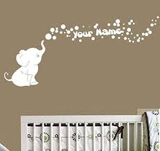 Decal The Walls Elephant Bubbles Vinyl Decal With Personalized Name Nursery White Elephant Things