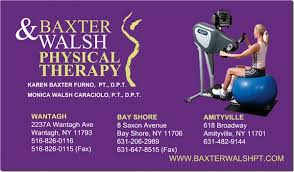 baxter walsh physical therapy