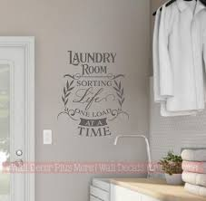Laundry Room Wall Decal Sorting Life One Load At Time Vinyl Lettering