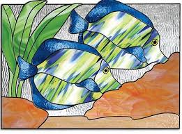 free stained glass patterns tropical