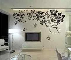 Large Butterfly Vine Flower Mural Art Wall Stickers Living Room Uk Sh52 Ebay