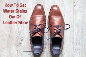 water stains out of leather shoes