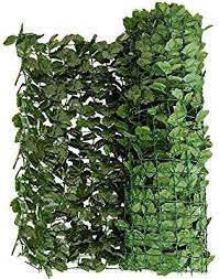 Amazon Com Lunanice 59 X118 Faux Ivy Leaf Decorative Privacy Fence Screen Artificial Hedge Fencing Garde Artificial Hedges Outdoor Gardens Fence Screening