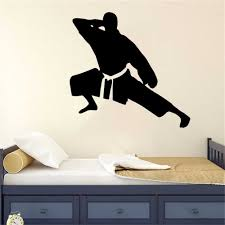 Wall Decor Of Japanese Men Karate Wall Sticker Home Vinyl Removable Decals Karate Hall Sports Decoration Wall Stickers Aliexpress