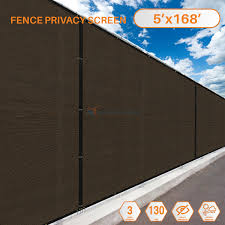 5 Feet X 168 Feet Brown Commercial Privacy Fence Screen Custom Available 3 Years Warranty 160 Gsm 88 Blockage Walmart Com Walmart Com