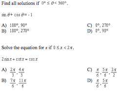 solved find all solutions if 0 degree