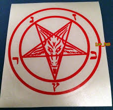 Baphomet Pentagram Decal Vinyl Sticker Satan Black Metal Death Etsy